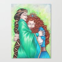 Merida and Elinor Canvas Print