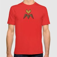Arts & Crafts style tulip Mens Fitted Tee Red SMALL