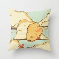Sky Diving Throw Pillow