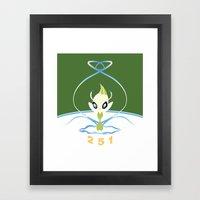 #251 Celebi ~ NATURE Framed Art Print