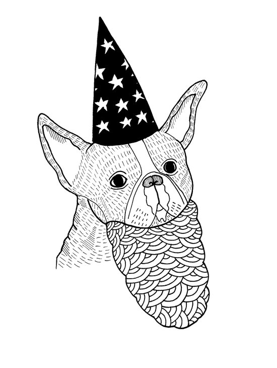 Dog Wizard Art Print
