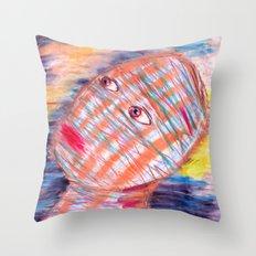 Plaid Head2 Throw Pillow
