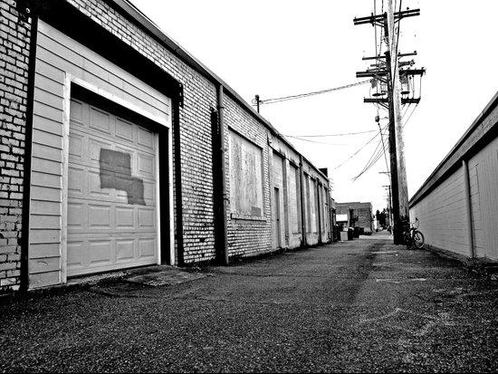 Neighborhood alley Art Print
