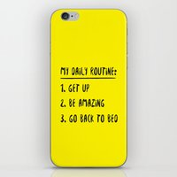 My Daily Routine iPhone & iPod Skin