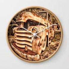 Old pickup ( Photo by Antal Ullmann ) Wall Clock