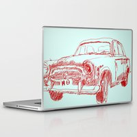 car Laptop & iPad Skins featuring Car  by Kristoffer West Johnson