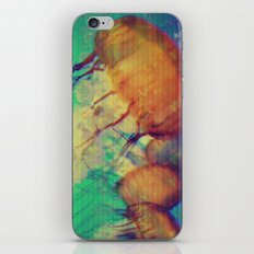 aquatic waveform iPhone & iPod Skin