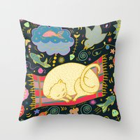 Cat Dreams Throw Pillow