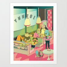 eating at johnny´s Art Print