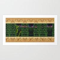 Oscar Climbed The Hedges Art Print