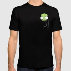 Pocket Spare Parts Mens Fitted Tee Black SMALL