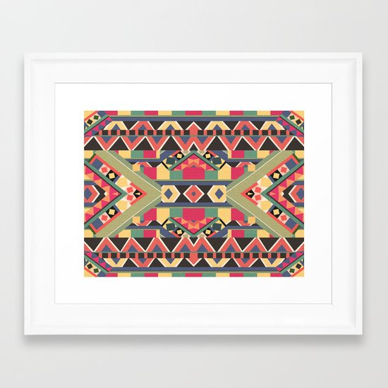 B / O / L / D Framed Art Print