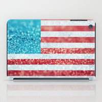 Red, White, and Glitter (Photo of Glitter) iPad Case
