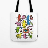 Haring - Simpsons Tote Bag
