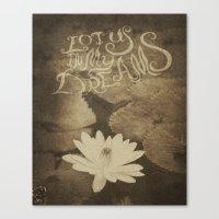Lotus in My Dreams Canvas Print
