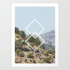 Simple Geometry Art Print