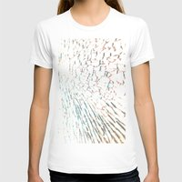 Broken Glass  Womens Fitted Tee White SMALL