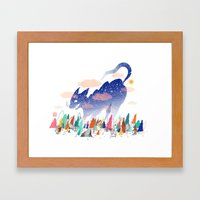 Catching the Lost Night Framed Art Print