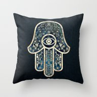 Hamsa 2 Throw Pillow