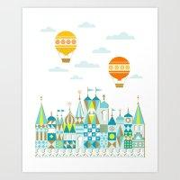 Small Magic white Art Print