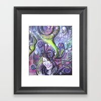 Krystal Snow Framed Art Print