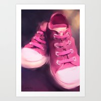 Pink Shoes Art Print