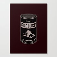 Fresh Canned Produce Canvas Print