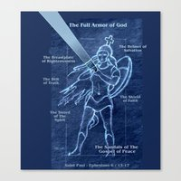 Full Armor of God - Warrior Girl 2 Canvas Print