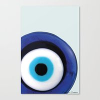 Canvas Print featuring Evil Eye by SalbyN
