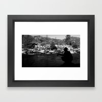 In the shadows Framed Art Print