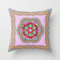 Mix&Match;  Pretty Pink Mandala Meditation pillow 03 Throw Pillow