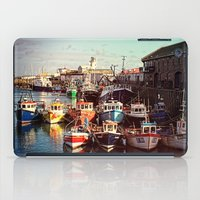 Boats resting in the Harbour iPad Case
