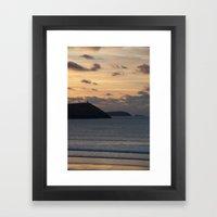 Evening Skies Over Polze… Framed Art Print