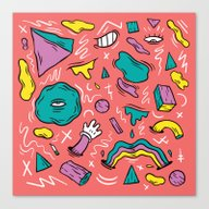 Canvas Print featuring Fun House by Maxime Roy