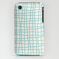 Blue Scribbles 06 iPhone (3g, 3gs) Slim Case
