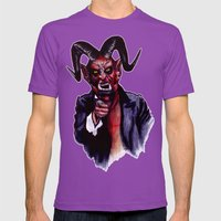 Uncle Satan Mens Fitted Tee Ultraviolet SMALL