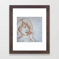 It made me think of you Framed Art Print