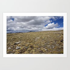 Rocky Mountain Tundra Storm Clouds Art Print