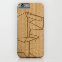 iPhone Cases featuring Origami - Dino by Fernando Vieira