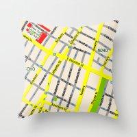 NEW YORK Map Design - SO… Throw Pillow