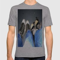 Kickin' It Mens Fitted Tee Athletic Grey SMALL