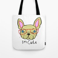 I'm Cute French Bulldog Tote Bag