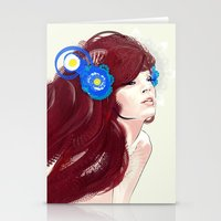 Blue Flower. Stationery Cards