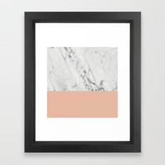 Marble And Coral Framed Art Print