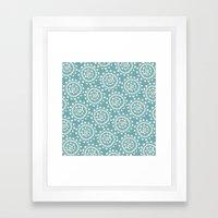 Wheels: Blue Framed Art Print
