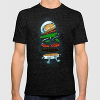 The Astronaut Burger Mens Fitted Tee Tri-Black SMALL