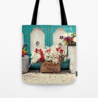 Vintage + Flowers  Tote Bag