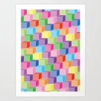 Rainbowstep Art Print