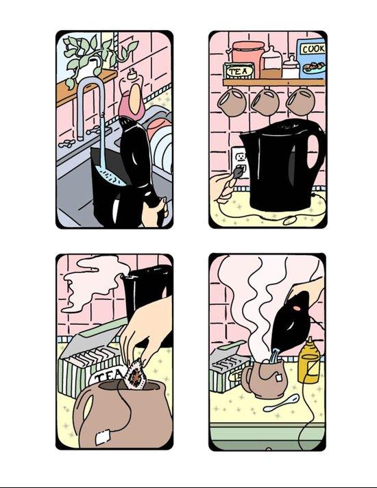 How To Make Tea Art Print