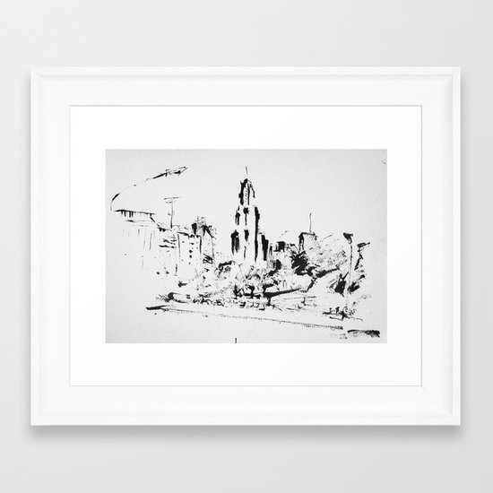 Kavanagh Building in Buenos Aires Framed Art Print